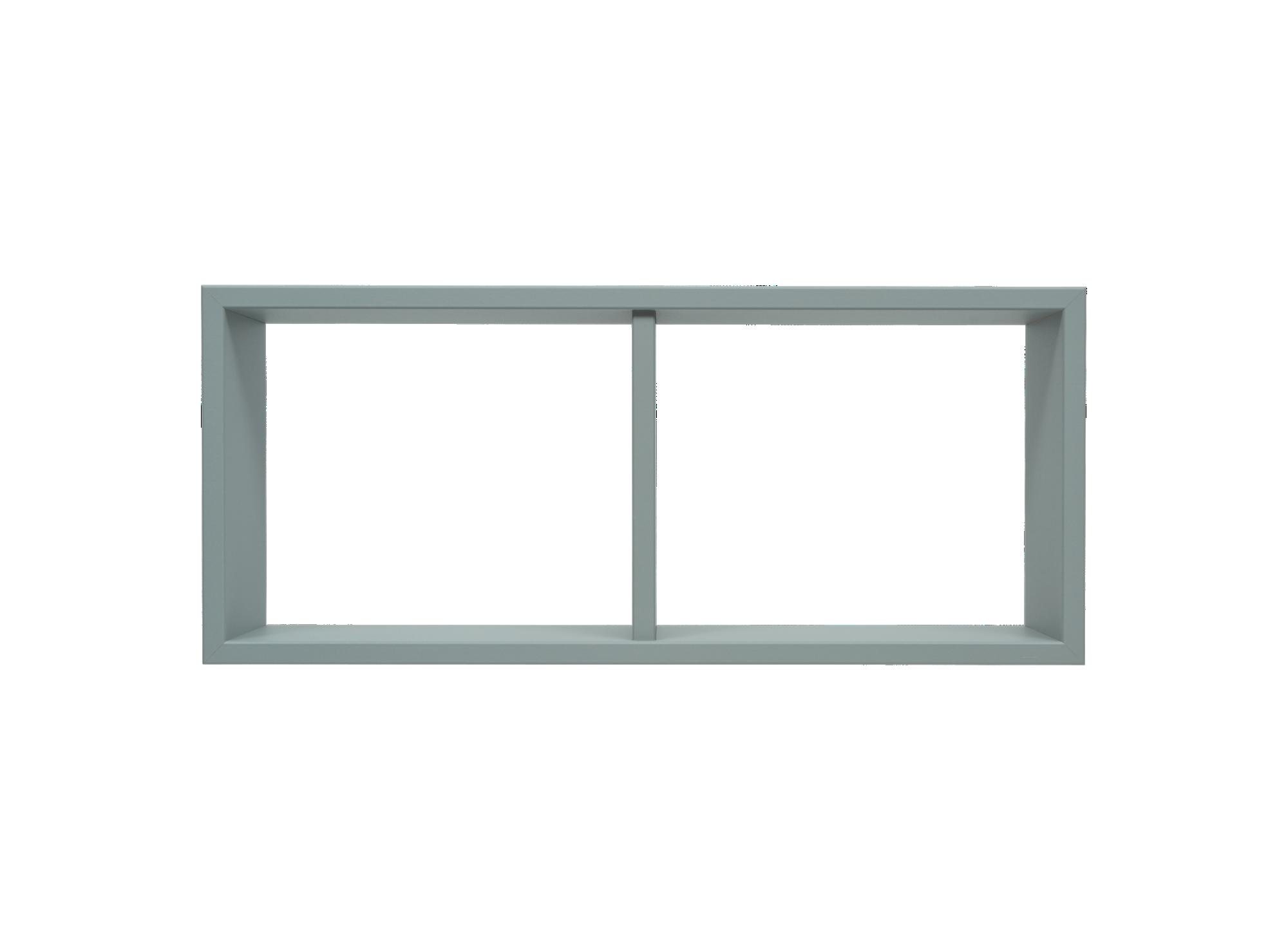 Etagere 2 cases en panneaux de moyenne densite revetement decor polyc ...