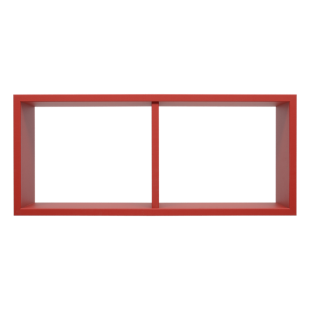 FLY-etagere 2 cases rouge
