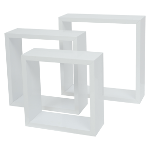 FLY-set de 3 cubes blanc brillant