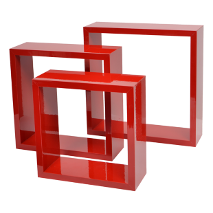FLY-set de 3 cubes rouge
