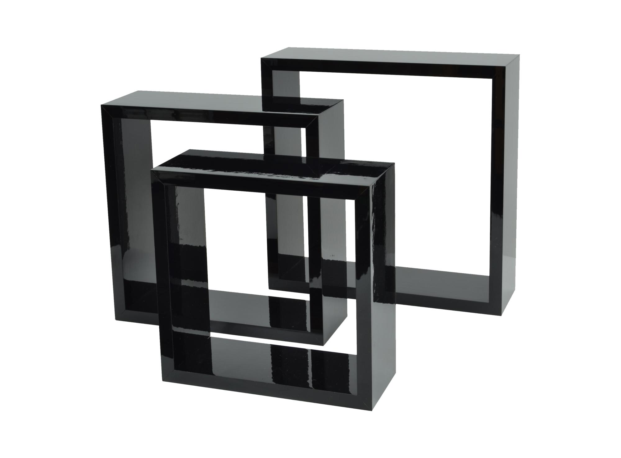 Set de 3 cubes en panneaux de fibres de moyenne densite, decor polych ...