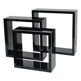 FLY-set de 3 cubes noir brillant