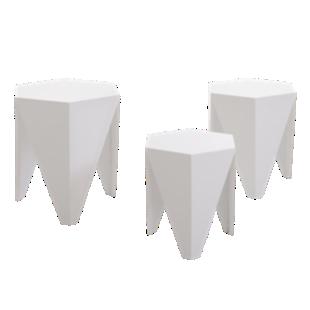 FLY-set de 3 tables basses blanc