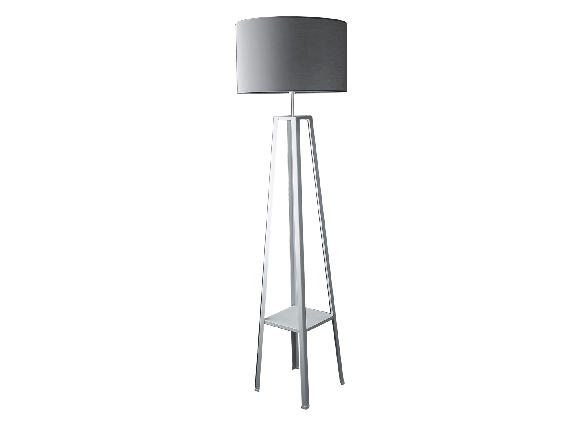 lampadaire h171 blanc et gris fly. Black Bedroom Furniture Sets. Home Design Ideas