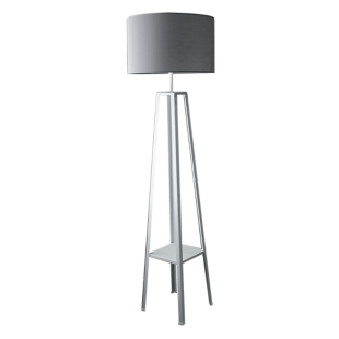 FLY-lampadaire h171 blanc et gris