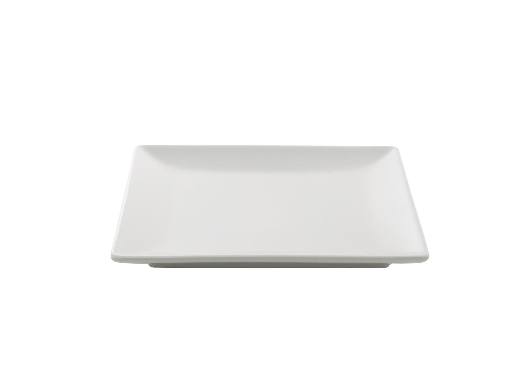 Assiette a dessert en gres emaille coloris blanc resiste au lave-vais ...