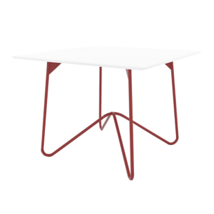 FLY-table carree rouge/blanc