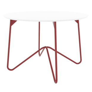 FLY-table ronde rouge/blanc