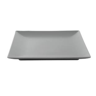 FLY-assiette plate 26.5x26.5cm en gres gris