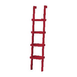 FLY-etagere droite l37cm rouge