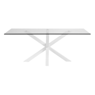 FLY-table rectangulaire verre/blanc l160