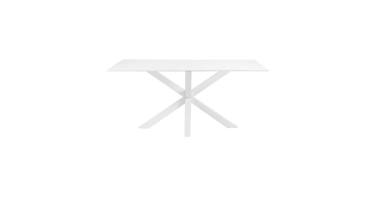 Table rectangulaire blanc blanc l160 fly for Miroir rectangulaire fly