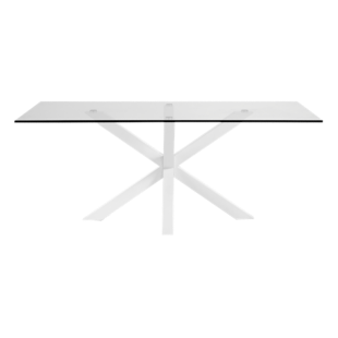 FLY-table rectangulaire verre/blanc l200