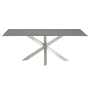 FLY-table rectangulaire gris/acier l200