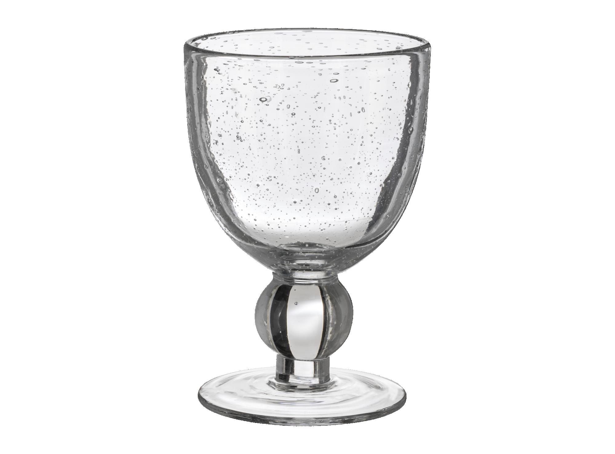 Verre a pied contenance 28cl en verre brut transparent. resiste au la ...