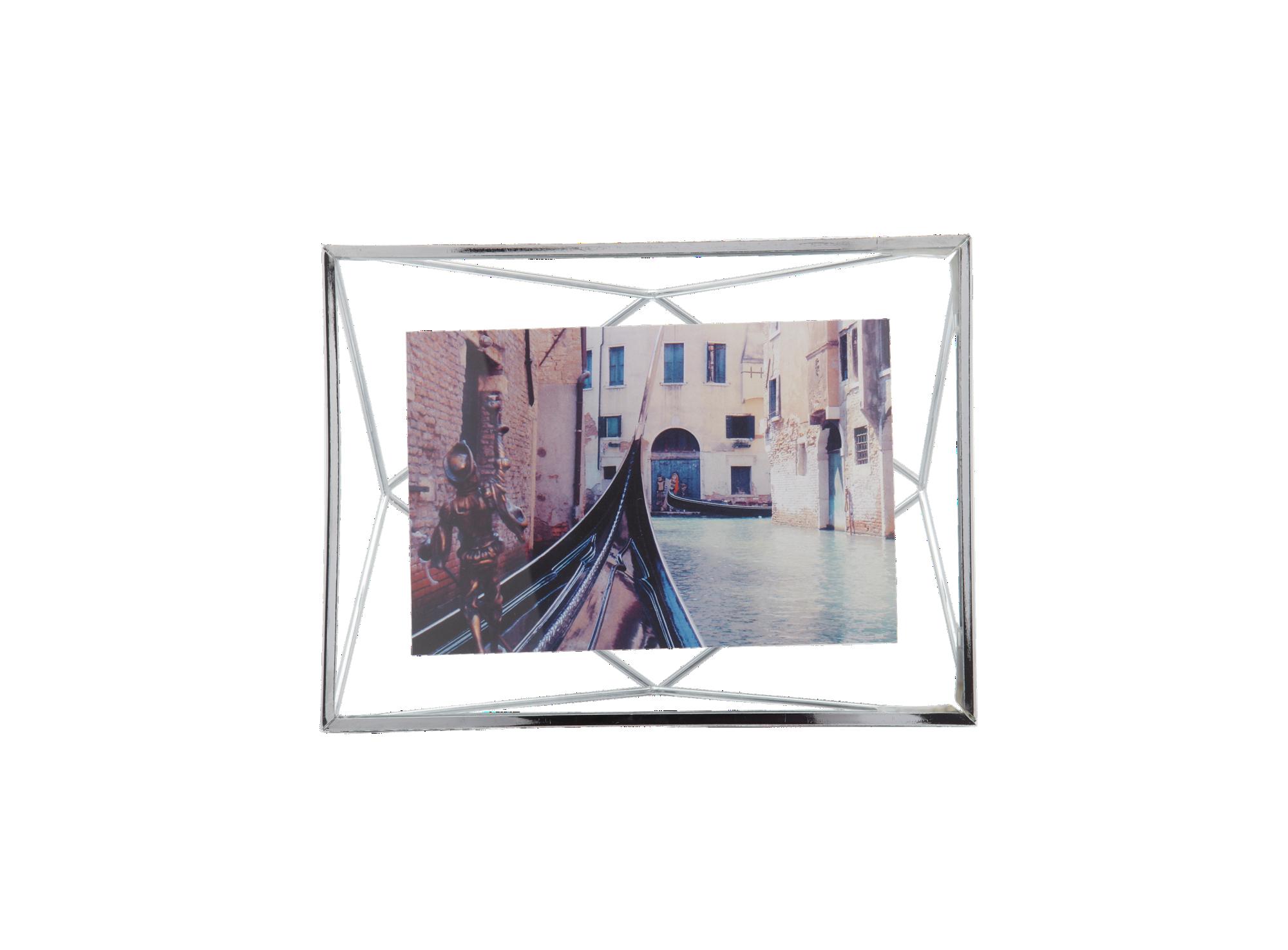 Cadre photo en metal chrome pour photo dimension 10x15cm