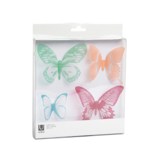 FLY-lot de 16 deco murales multicolores