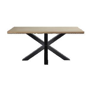 FLY-table rectangulaire chene/noir l160