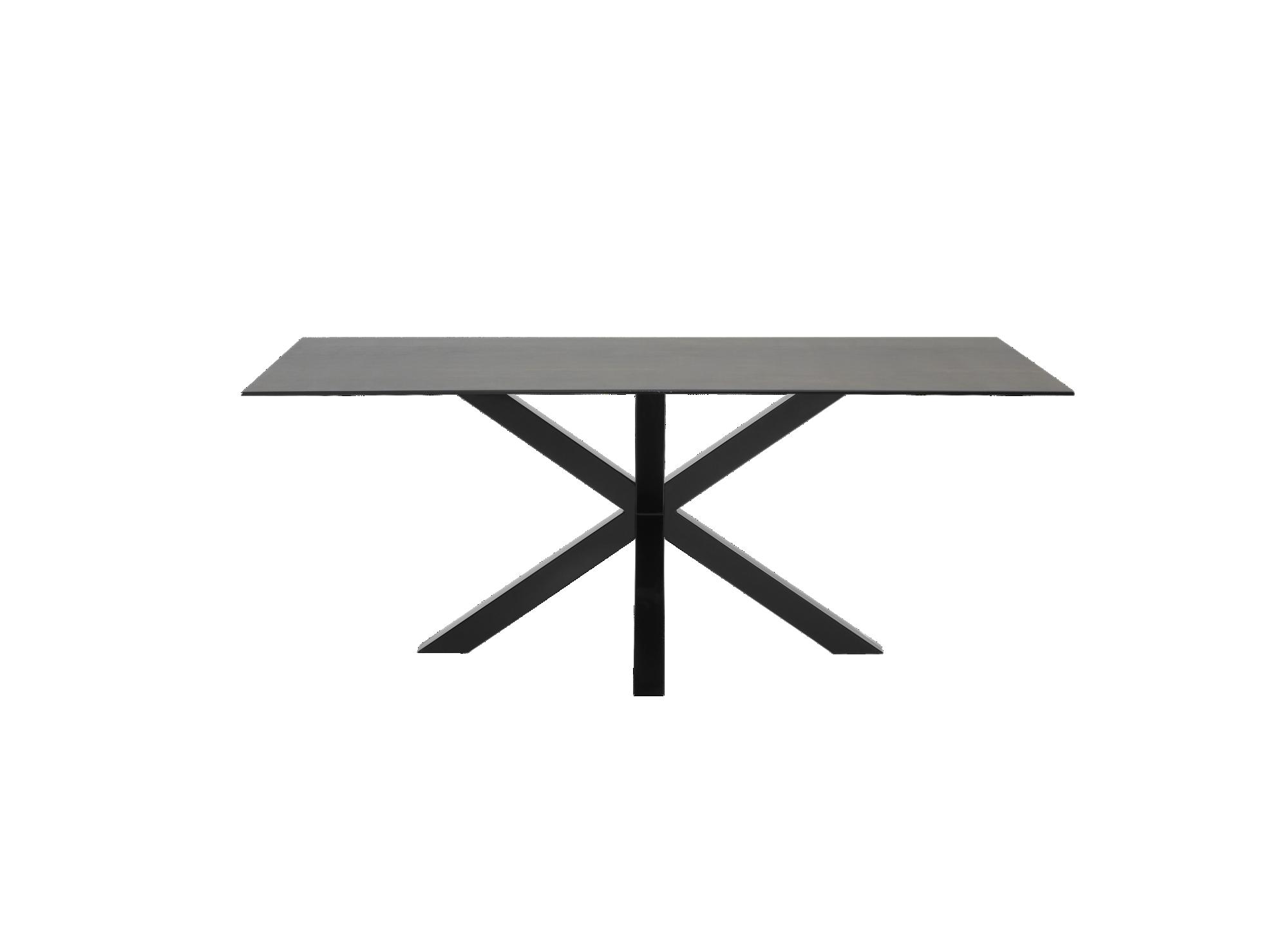 Table metal noi/ceramique gris structure et pietement en metal (acier ...