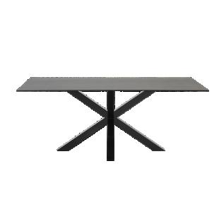 FLY-table rectangulaire gris/noir l160