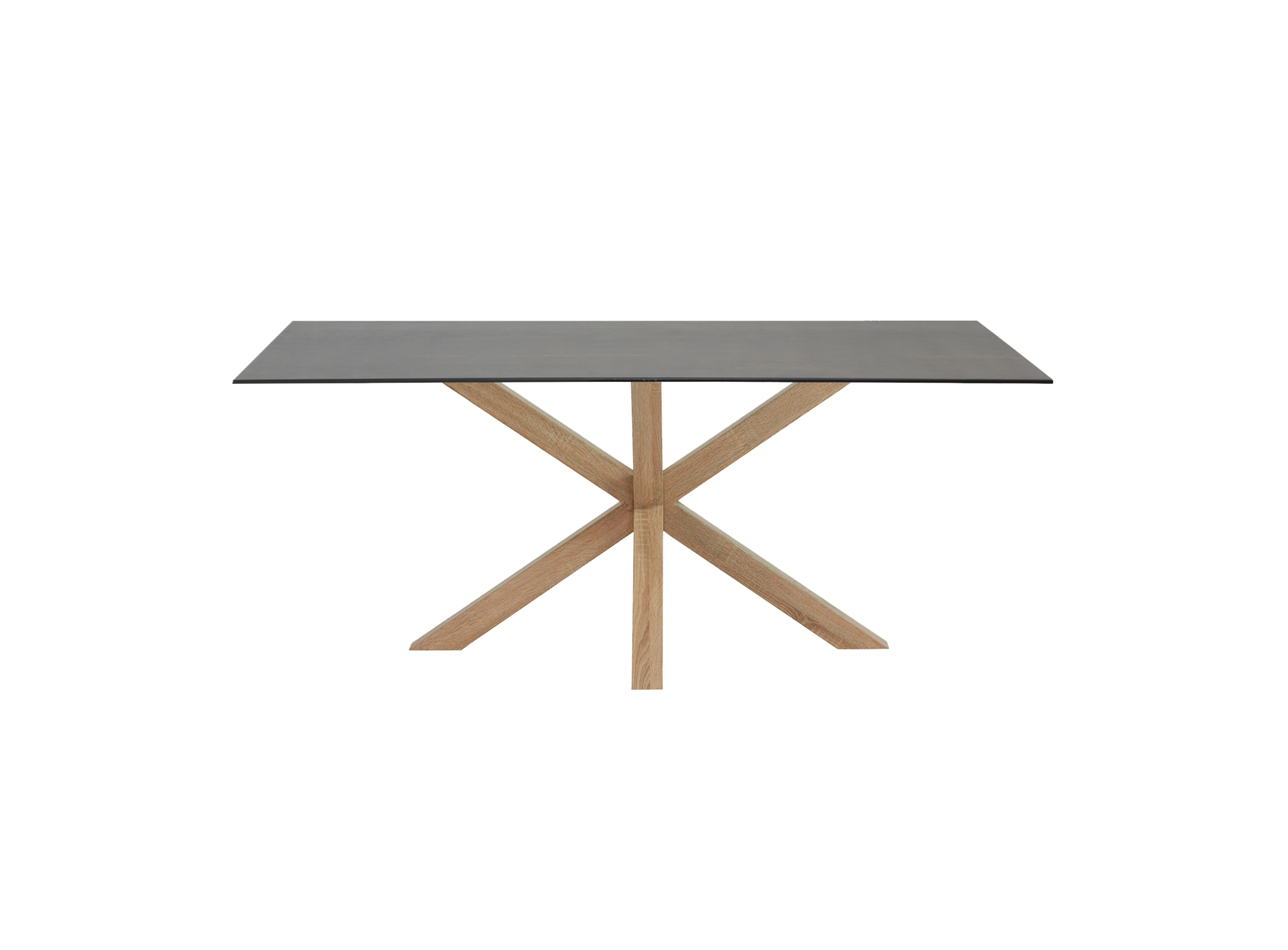 Table rectangulaire gris chene l160 table table for Meuble acier fly