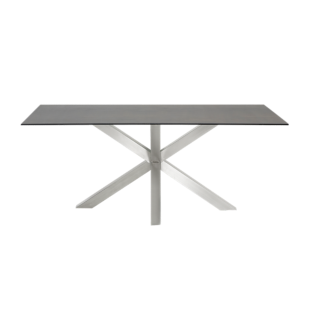 FLY-table rectangulaire gris/acier l160