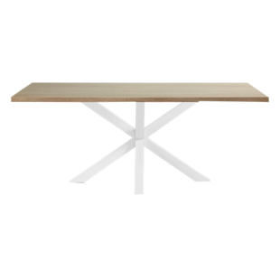 FLY-table rectangulaire chene/blanc l200