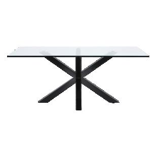 FLY-table rectangulaire verre/noir l200