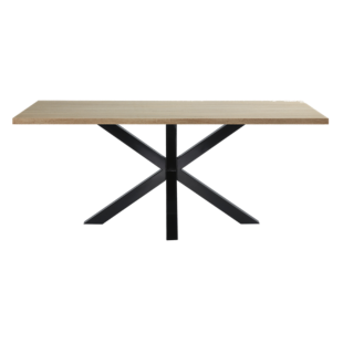 FLY-table rectangulaire chene/noir l200