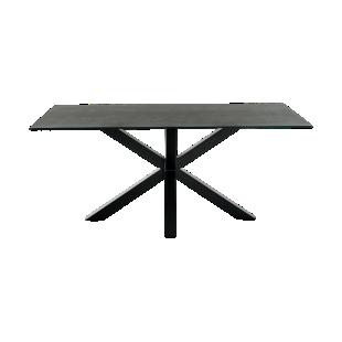 FLY-table rectangulaire gris/noir l200