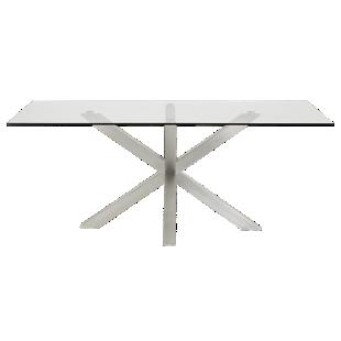 FLY-table rectangulaire verre/acier l200