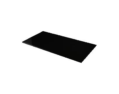 plateau verre noir l145cm | Fly