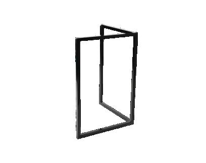 pied metal noir h75cm | Fly