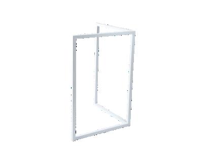 pied metal blanc h75cm | Fly