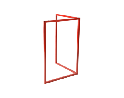 pied metal rouge h75cm | Fly