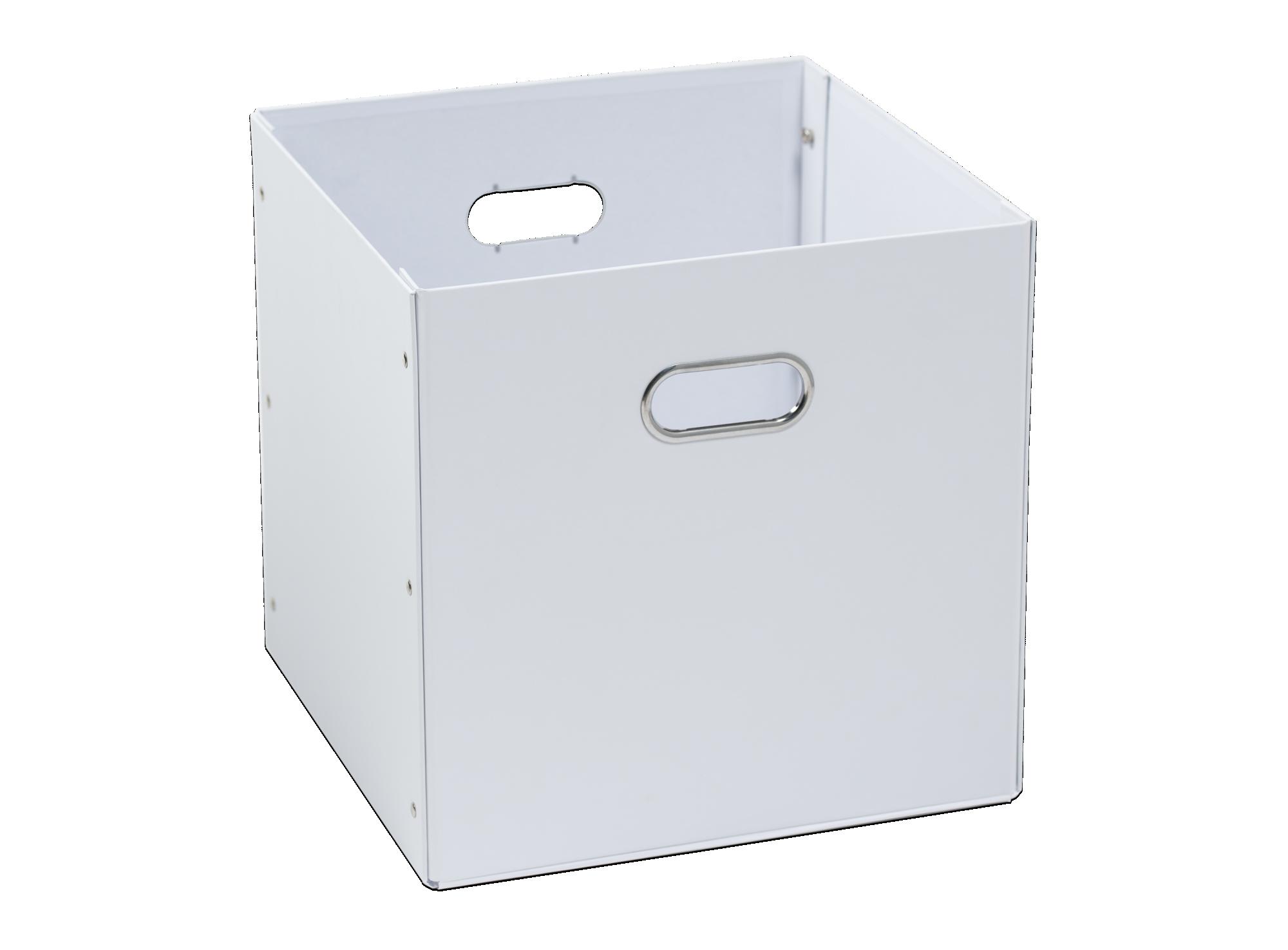 Boite En Carton Acier 32x32 Blanc Accessoire De Rangement Rangement D Coration Fly