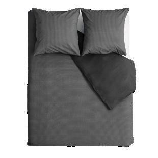 FLY-housse de couette 220x240cm + 2taies coton noir