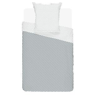 FLY-housse de couette coton 140x200+1taie gris