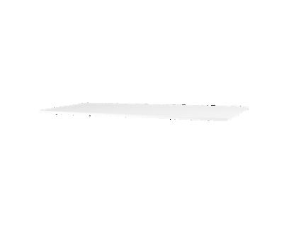 plateau rectangulaire laque blanc   Fly
