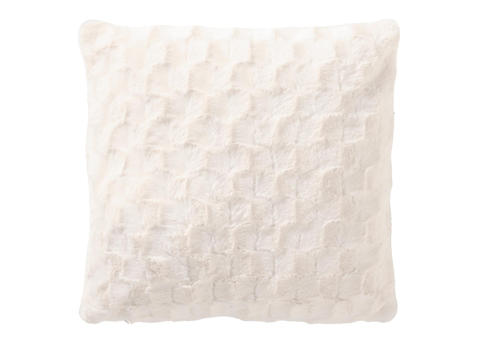 Coussin 45x45 revetu 100% polyester garni 100% polyester coloris ivoi ...
