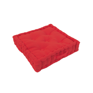 FLY-coussin sol coton 40x40 rouge