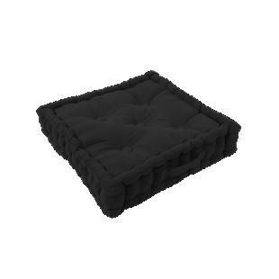 FLY-coussin sol coton 40x40 noir