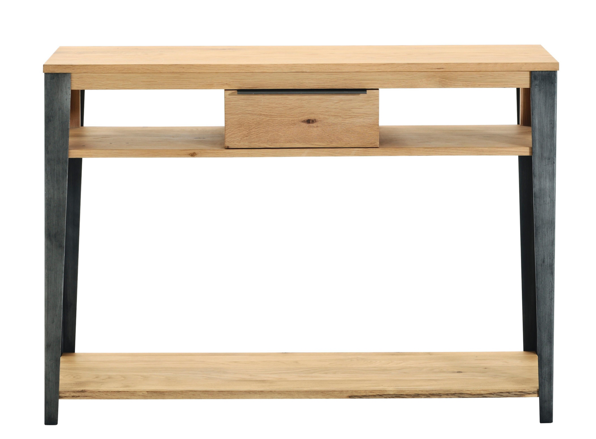 Console 1t gris chene oak fly for Console salon meuble
