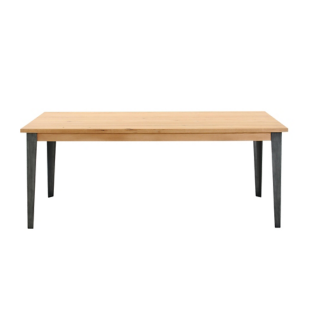 FLY-table l200 cm gris/chene oak