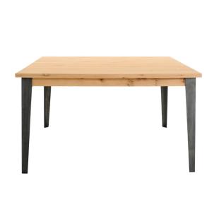 FLY-table l140 cm gris/chene oak
