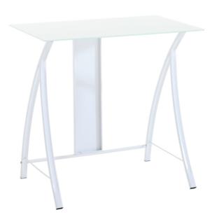 FLY-bureau acier blanc/verre blanc