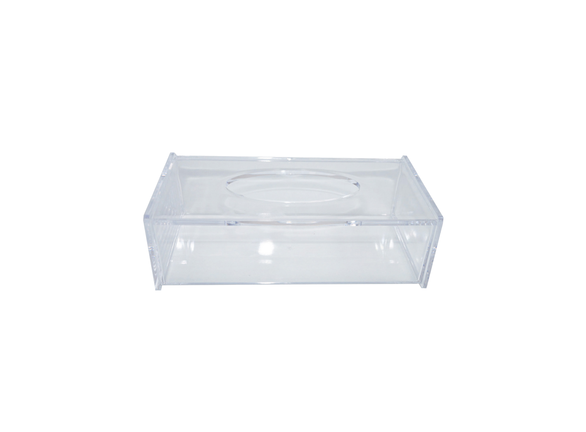 Boite mouchoirs transparent en acrylique