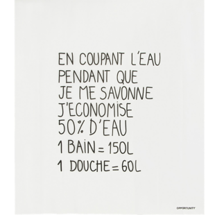 FLY-rideau douche 180x200cm typo