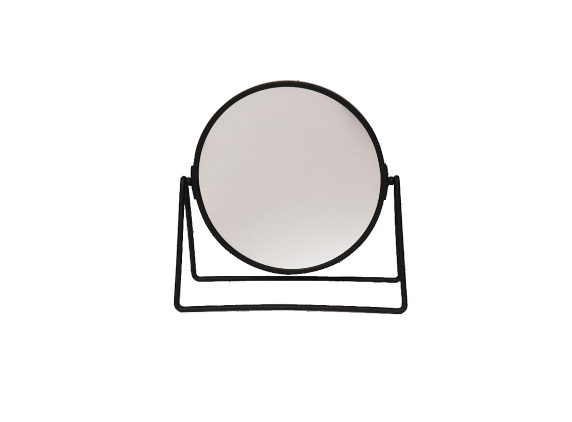 Miroir a poser noir x1/x5 en metal et verre