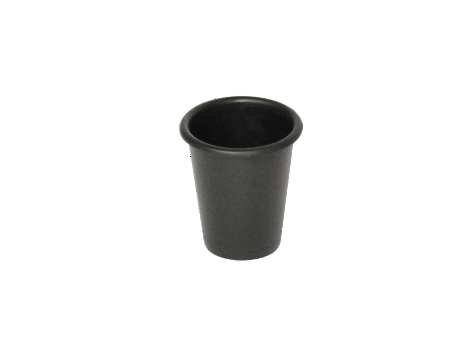 Gobelet en polypropylene noir et bois hevea